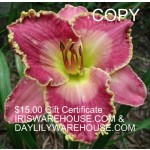 $15 gift certificate to Iriswarehouse & Daylilywarehouse